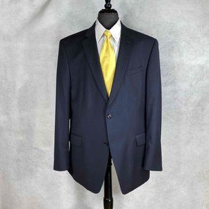 John Varvatos dark blue wool 2 button blazer